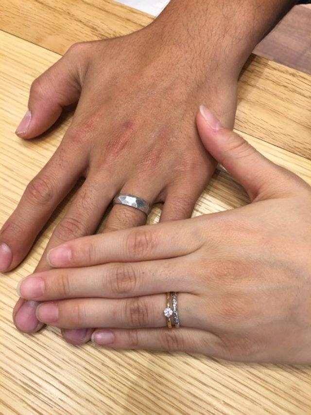 男性用の指輪は存在感が凄いです
