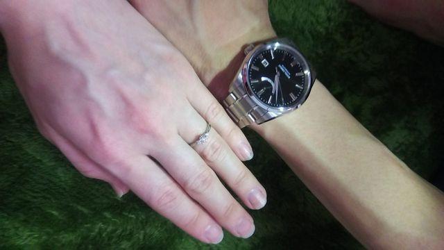 夫へ贈った結納返しの腕時計と一緒に