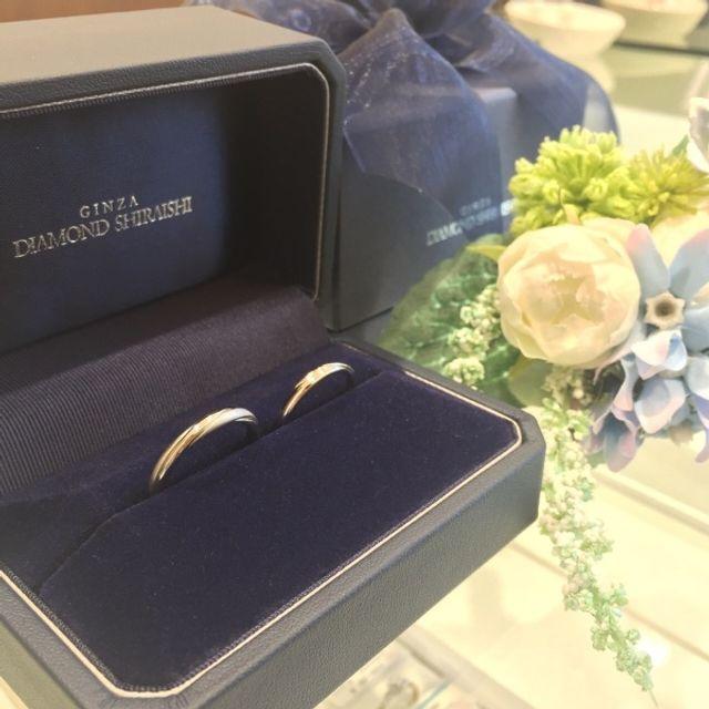 結婚指輪も銀座ダイヤモンドシライシにお願いしました♬