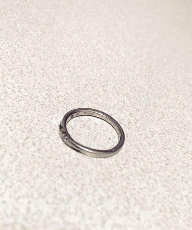 6.5号プラチナの指輪です。