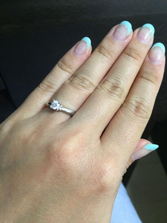 2年前に買った婚約指輪です