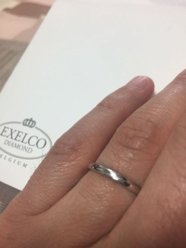 新郎指輪。お揃い感があっていい