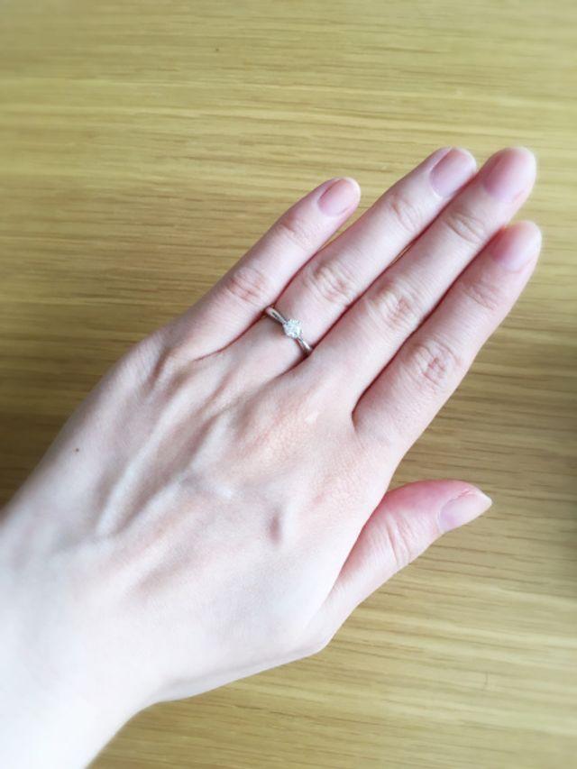 WISPの婚約指輪です。