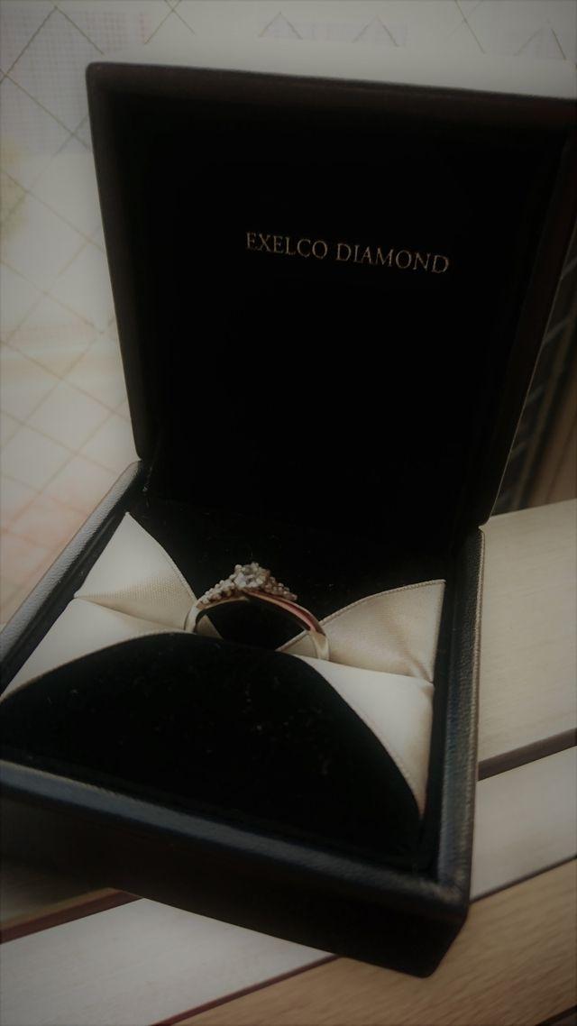 実際に購入した婚約指輪です。