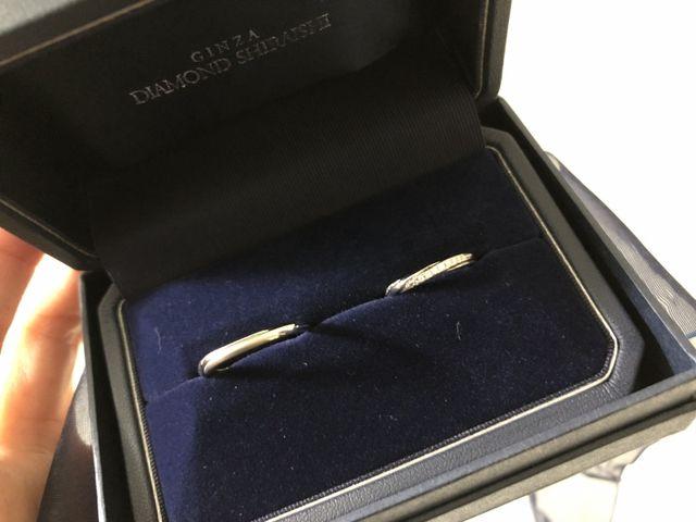 お揃いの指輪、持ってきてもらったときにピンときて決めました!