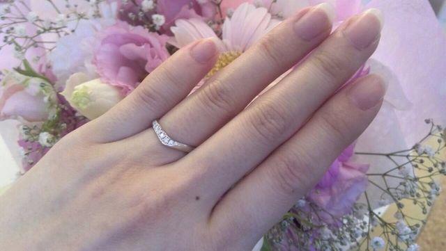 結婚指輪を受け取った当日の写真です