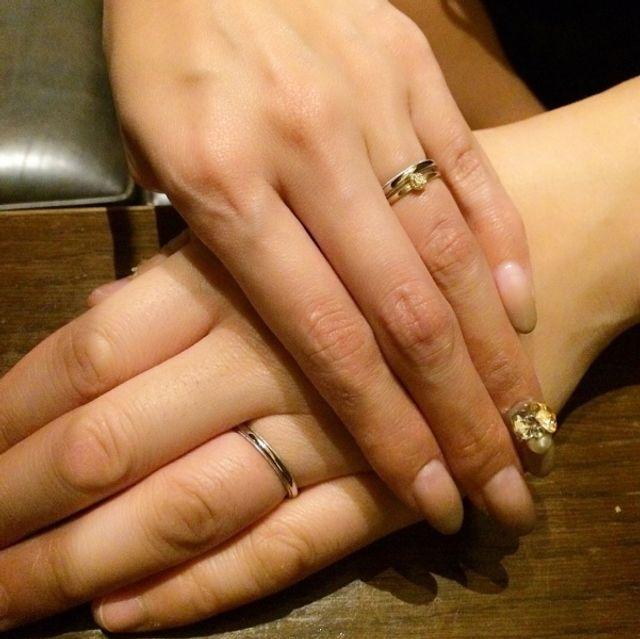 骨ばった私の指にも旦那さんのふっくらした指にも、馴染みました