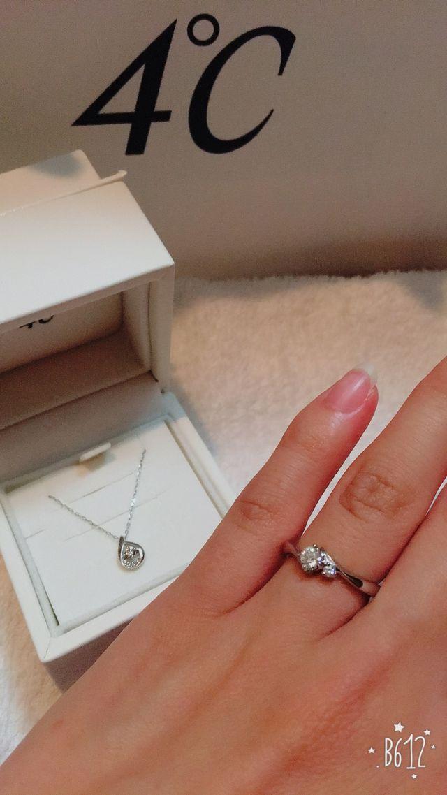 4℃の婚約指輪