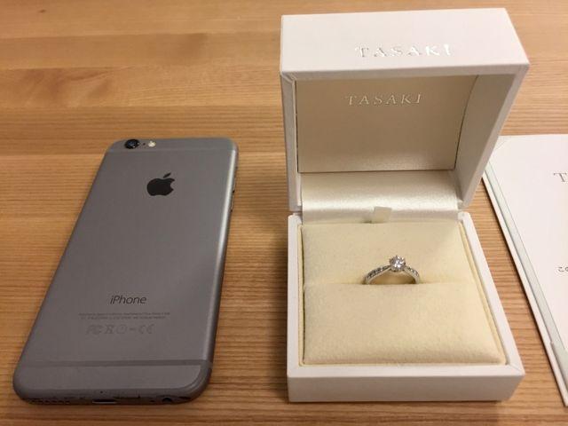 ダイヤモンド 0.45カラット 5号 比較:iphone6