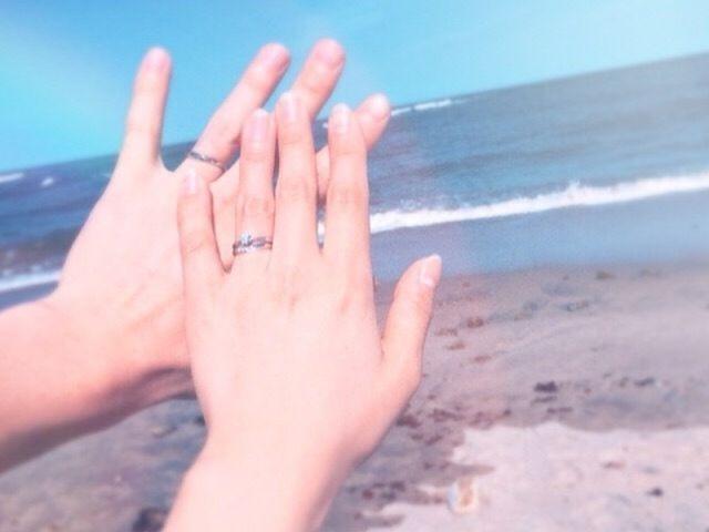 プロポーズの時にもらった婚約指輪との相性も抜群!