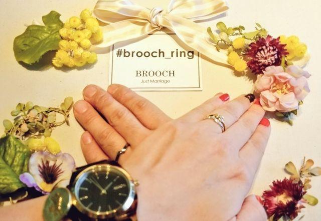 婚約指輪を3年前に贈り、ようやく結婚指輪につながりました。