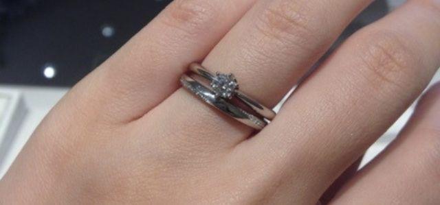 婚約指輪と同時に購入した結婚指輪♡