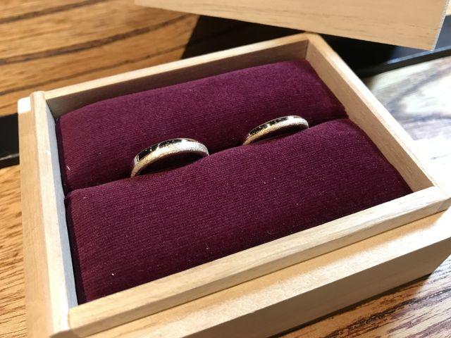 購入した指輪の写真