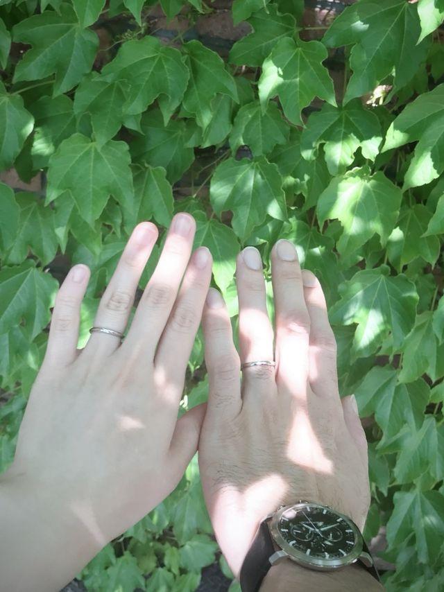 ペアではなくそれぞれ気に入った結婚指輪を購入しました。