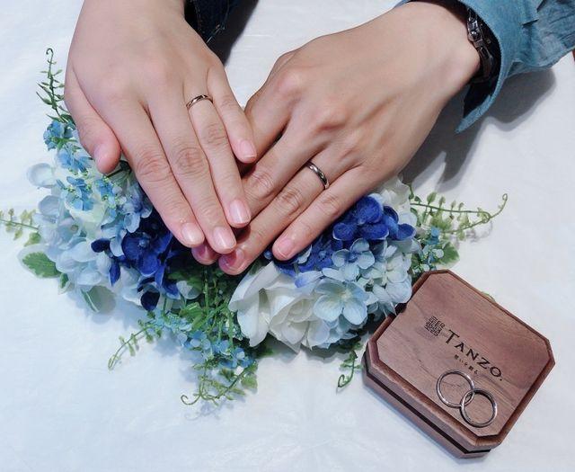 1年越しの結婚指輪取りに伺いました。