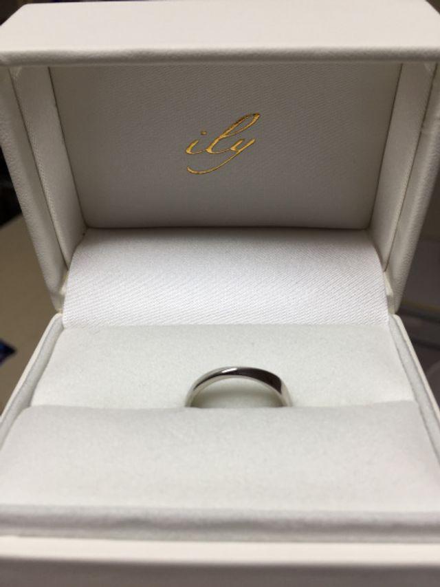 新郎用の指輪です。
