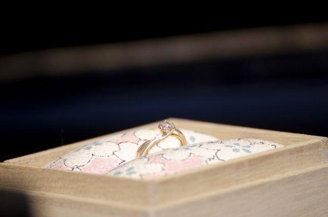 婚約指輪(桜一輪:PG&SV)