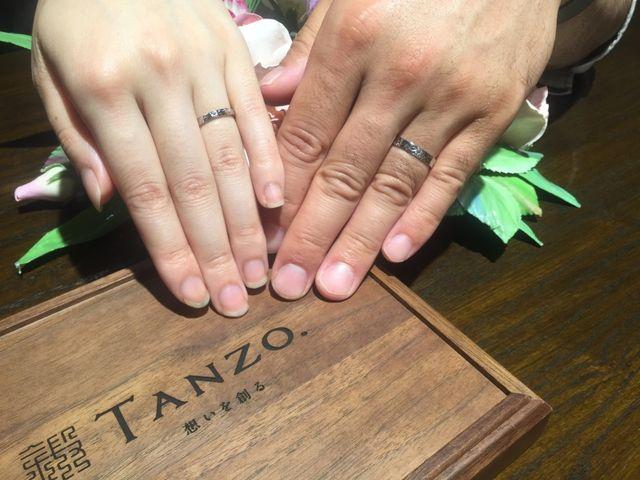 完成した指輪を見たときはとても嬉しかったです。