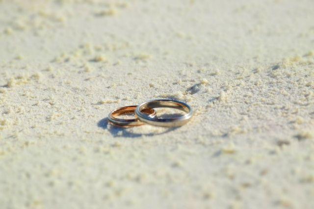 お気に入りの結婚指輪です。