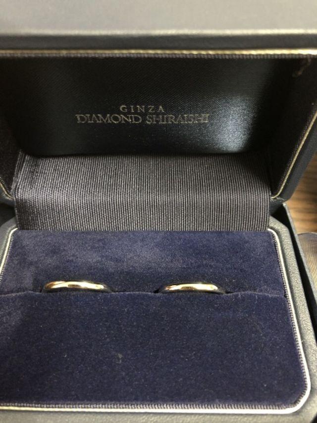 シンプルなタイプの結婚指輪です^_^
