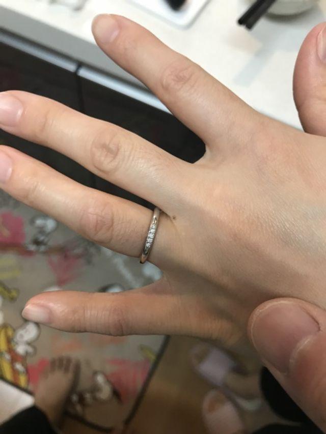 妻の結婚指輪
