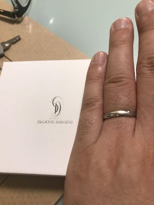 夫の結婚指輪