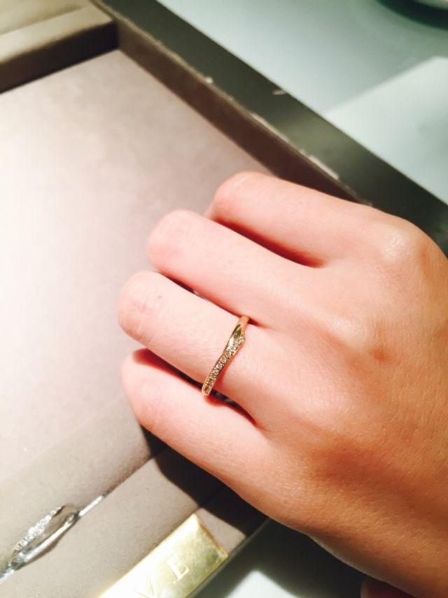 指輪アップ