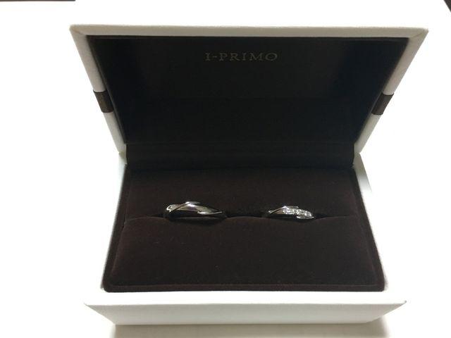結婚指輪。アイプリモのネプチューン。