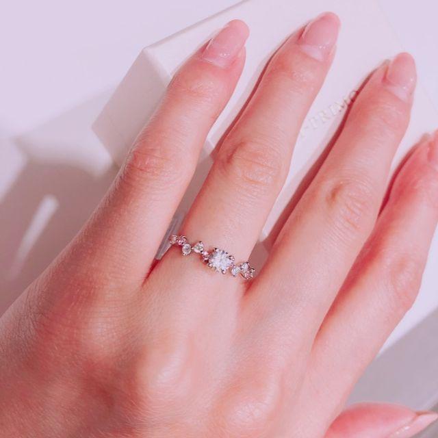 ピンクダイヤが入ったリング♡