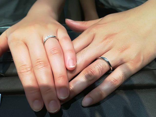 婚約指輪、結婚指輪はアイプリモで統一しました。