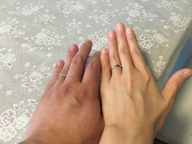 結婚指輪♡プラチナにピンクゴールドの縁取り