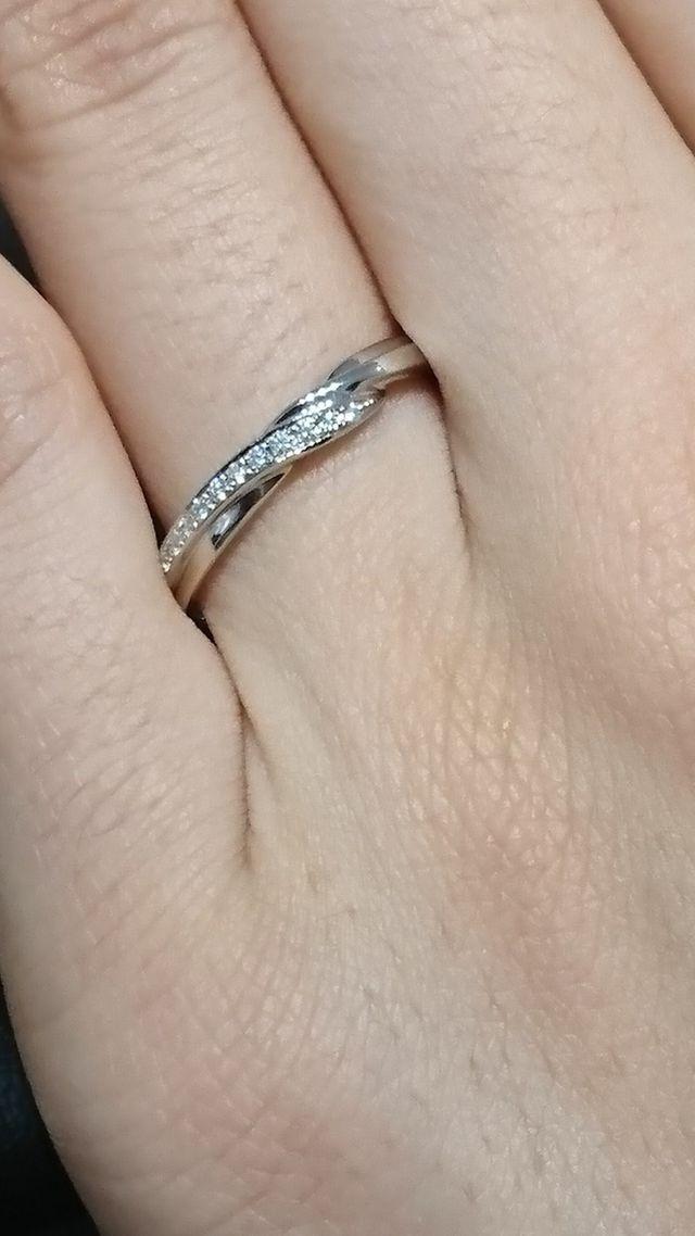 指輪のアップ