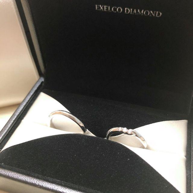 出来上がってきた結婚指輪。