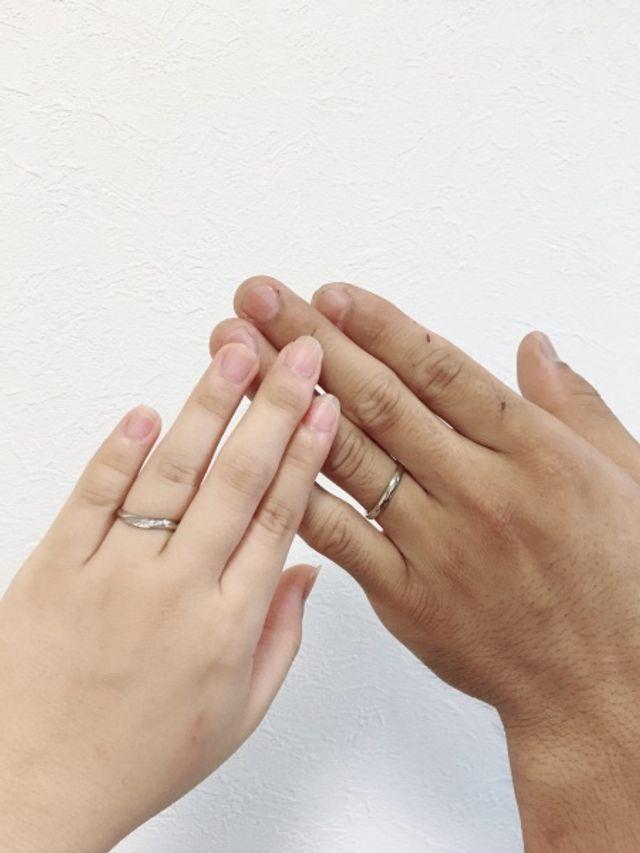 とっても可愛くて、ついつい自分の指を見てしまいます。笑