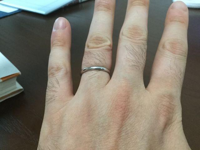 細目の結婚指輪です。