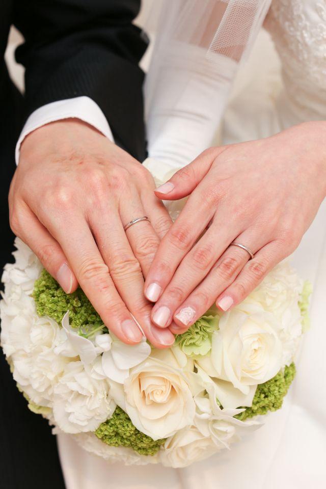 結婚式当日の写真です。