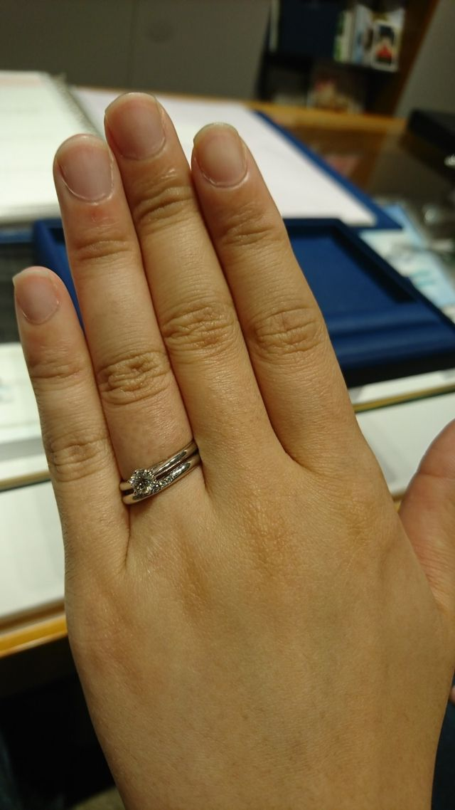 銀座ダイヤモンドシライシさんで購入しました。