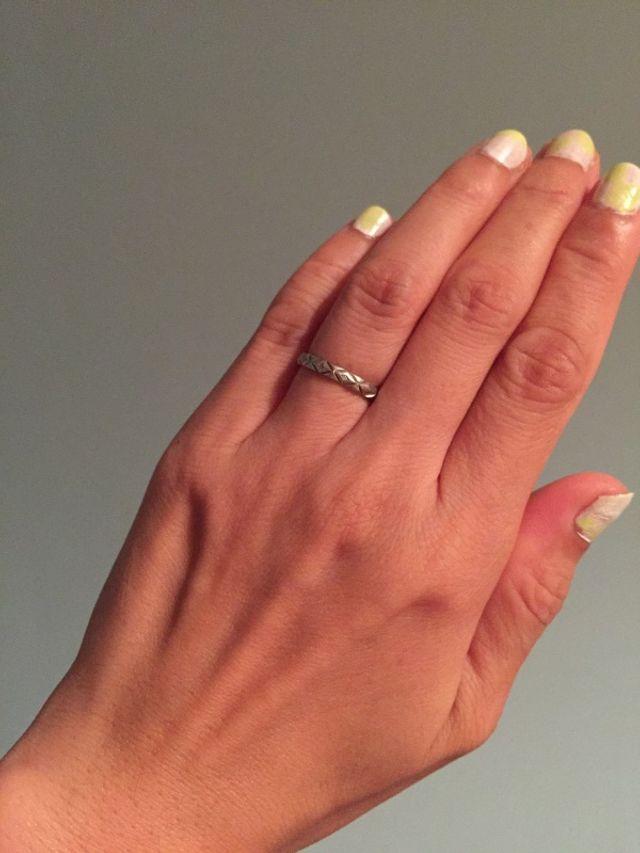 毎日つけている指輪です