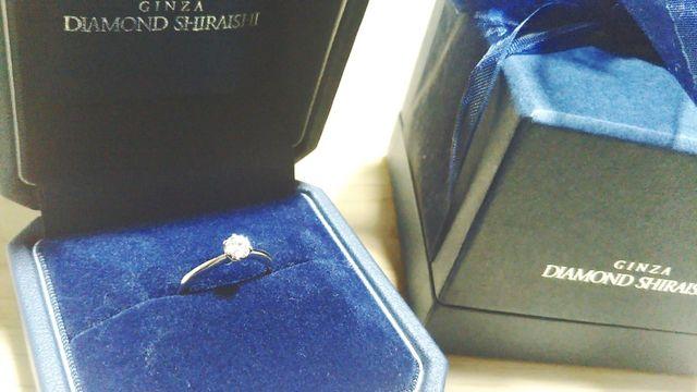 婚約指輪です(^^)