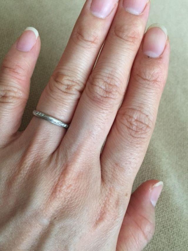 デザインダイヤの結婚指輪