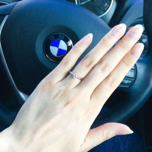 好きな指輪を選んでほしいと思いプロポーズリングでプロポーズ★