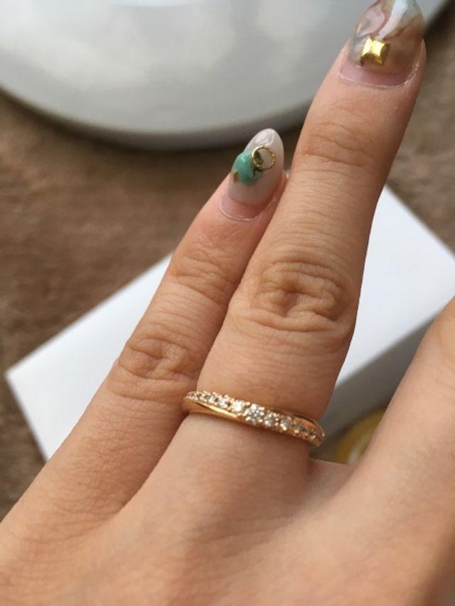 一目惚れのアマリーの指輪です。