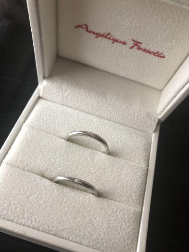 3年前に購入した結婚指輪です。