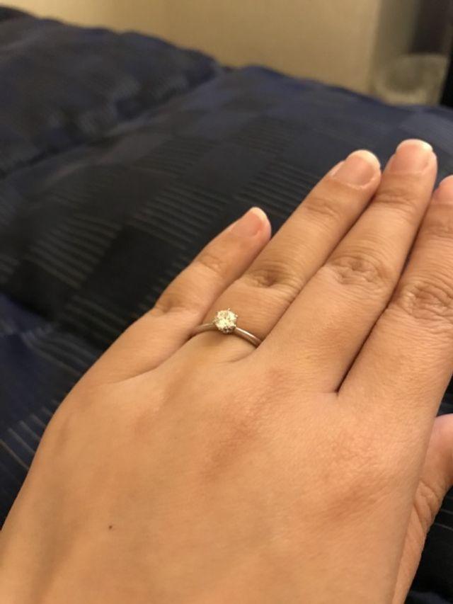 ダイヤモンドメインの婚約指輪、とっても嬉しかったです。
