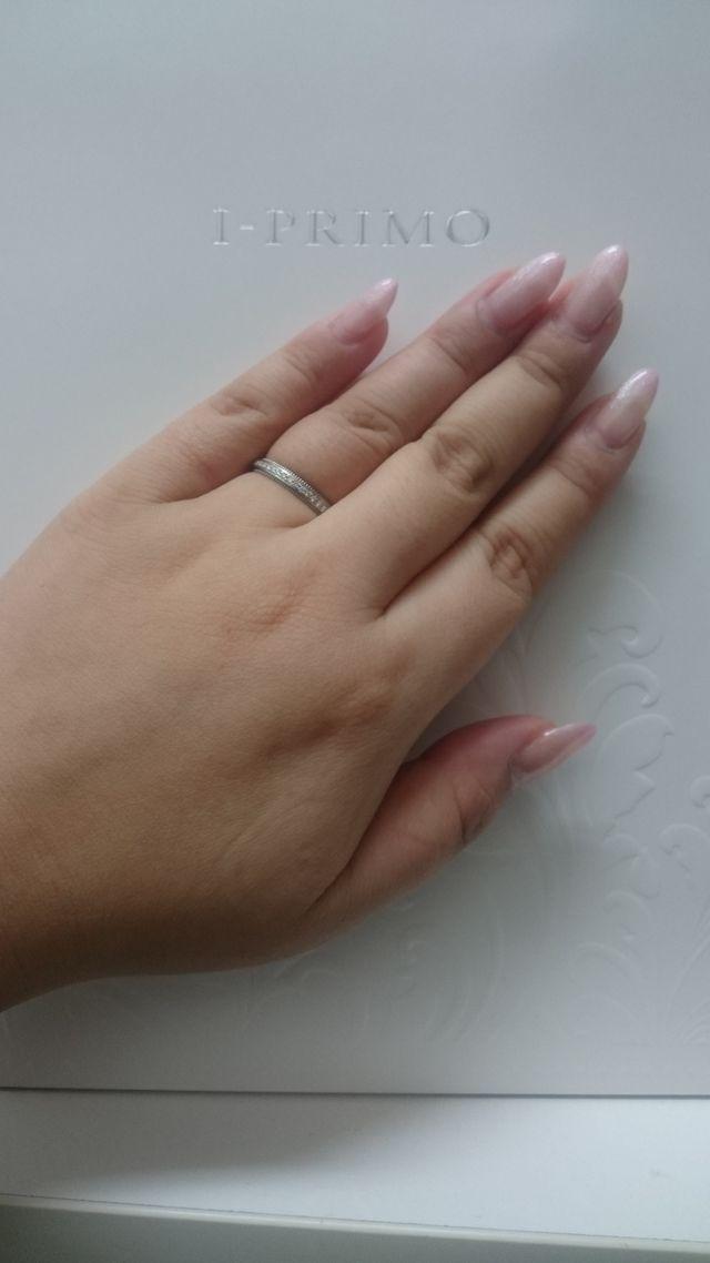 コンプレックスな指をリングできれいに見せてくれる*゜