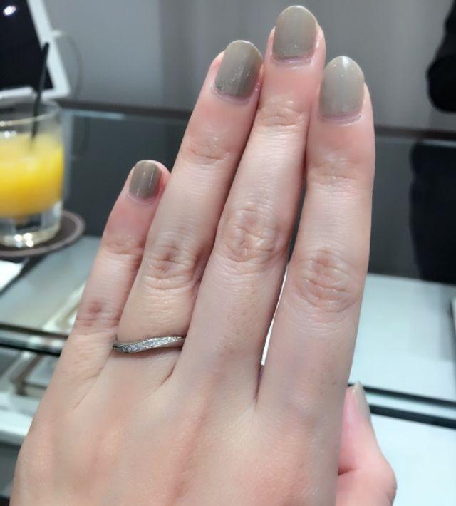 指輪が仕上がりました