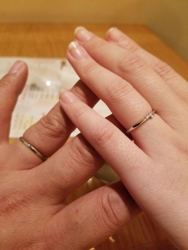 受け取りに行った日、プロポーズした店にて
