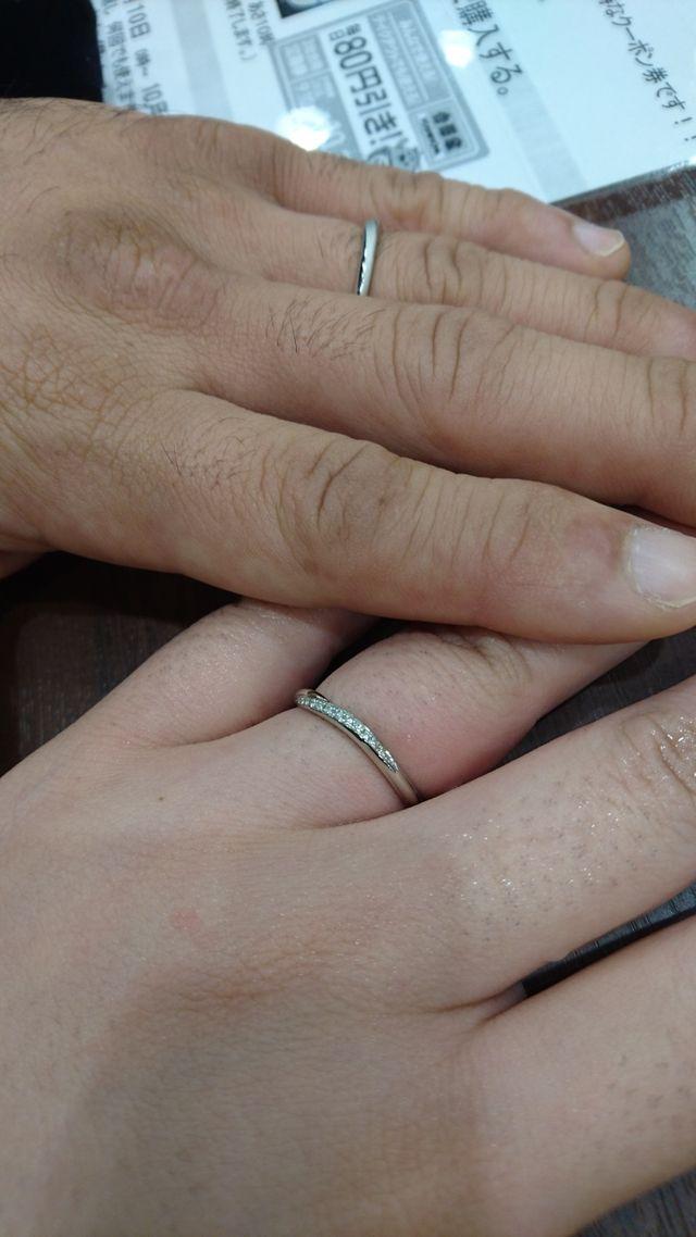 結婚指輪 主人はつや消しをしてもらいました