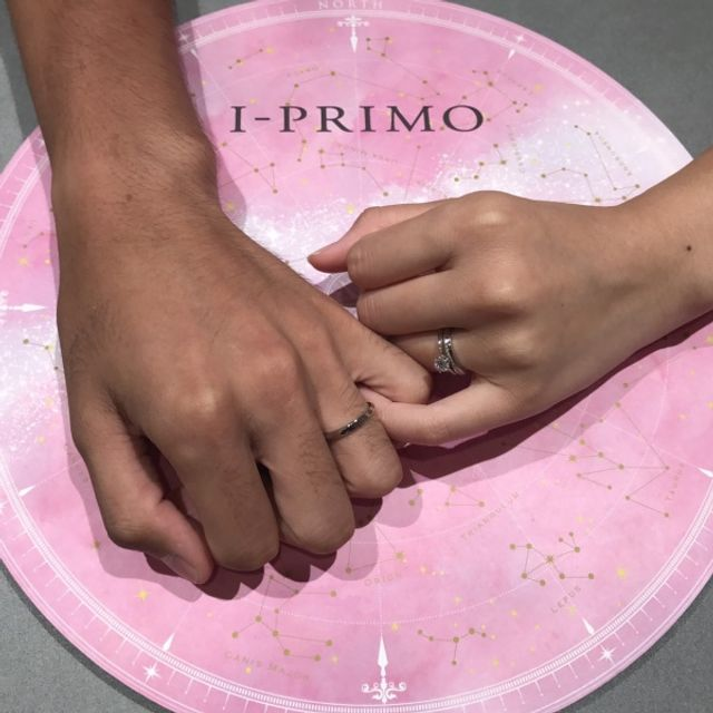 結婚指輪はプシュケー!シンプルで上品なデザインです。