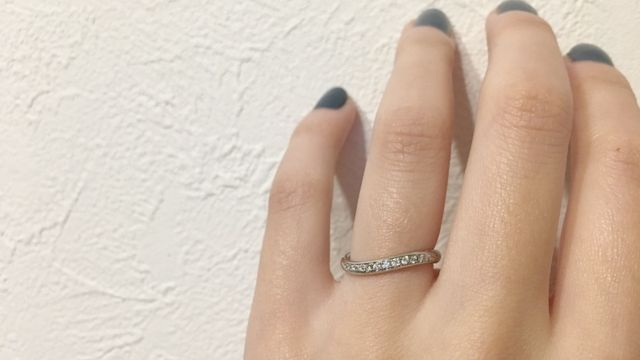 ダイヤの輝きがとってもお気に入りです。